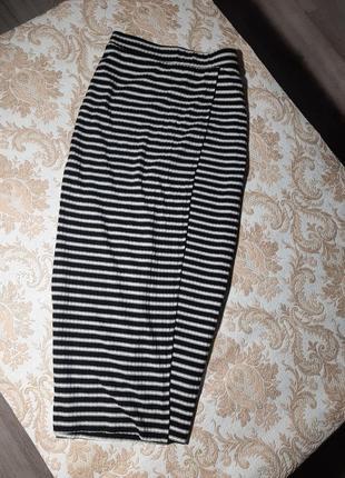 Трикотажная юбка в полоску