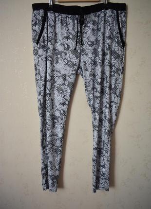 Домашние брюки с принтом большого размера love to lounge
