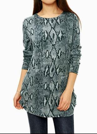 🌺🎀🌺красивая женская трикотажная удлиненная кофта, джемпер, туника, блузка loungewear🔥🔥🔥