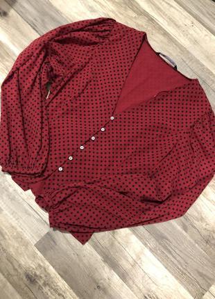 Блузка в горошек от zara