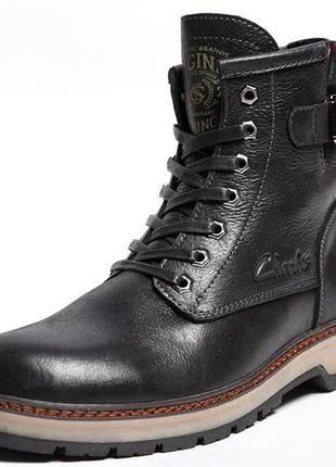 Мужские кожаные ботинки clarks montacute