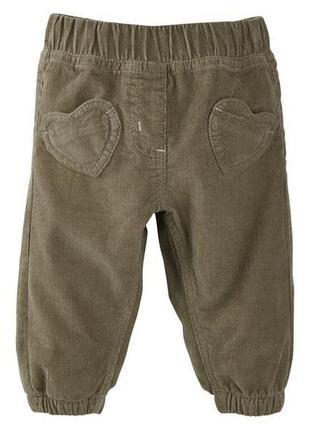 Хлопковые вельветовые штанишки lupilu на рост 68 см