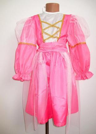 Принцесса фея золушка розовое платье 6-7 лет
