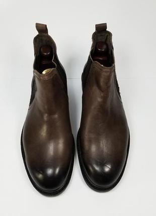 Alberto torresi india мужские кожаные ботинки на осень зиму коричневого цвета