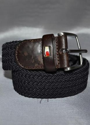 Черно-коричневый ремень tommy hilfiger