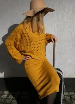 Шикарне вязане плаття
