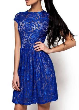 Романтичное ажурное платье из гипюра