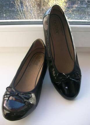 Туфли женские натуральная кожа hotter р.37