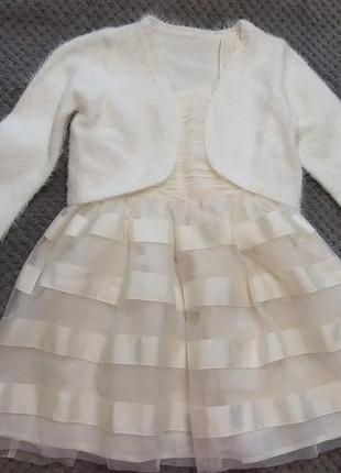 Платье нарядное с балеро на девочку 8-9 лет, фирмы н&м