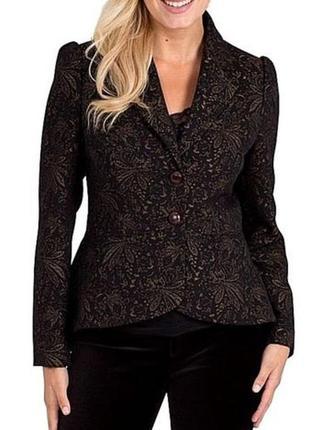 Брендовый пиджак жакет блейзер joe browns узор цветы этикетка
