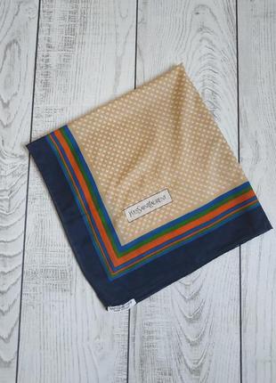 Винтажные хлопковый платок yves saint laurent pp 64*65