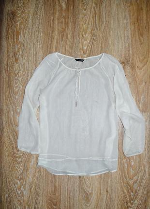 Воздушная шелковая блузка блуза massimo dutti