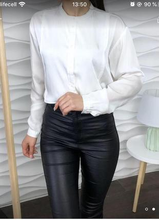 Шелковая рубашка от h&m