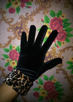Велюровые перчатки