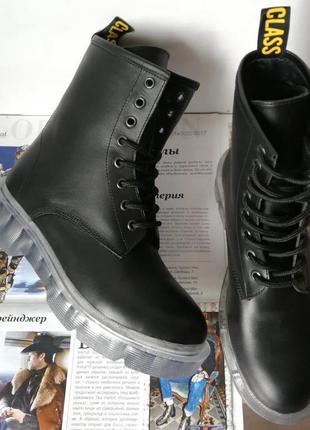Мартенсы супер кожа натуральная dr. martens jadon женские зимние кожаные ботинки