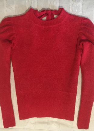 Нарядный свитер mango, размер s.