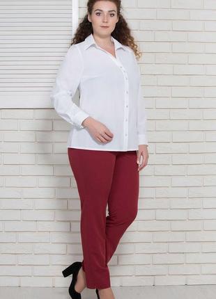 Бела блуза-рубашка 50-62 р