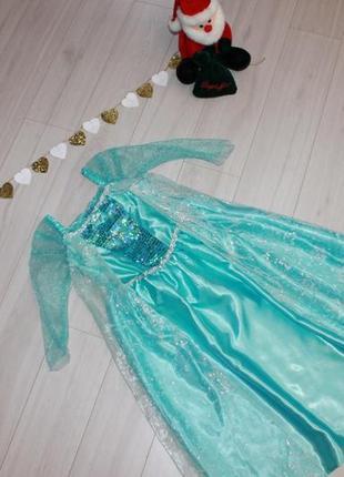 Платье эльзы на 4-5 лет disney