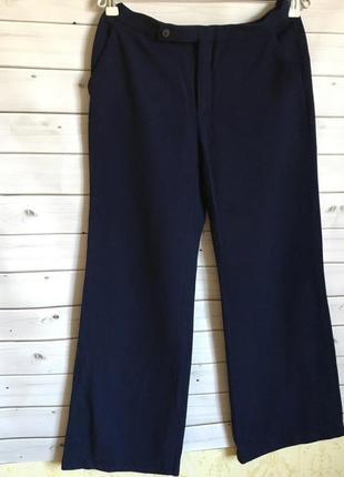 Широкие тёплые синие брюки , штаны zara