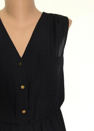Черное шифоновое платье размер s-m