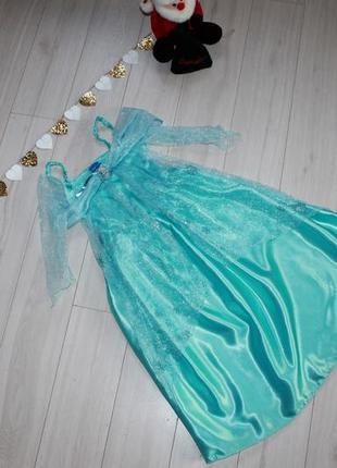 Карнавальное платье эльзы холодное сердце 5-6-7 лет disney