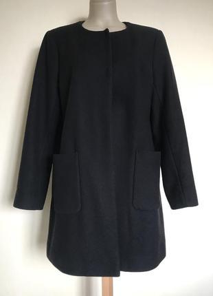 В наличии - деми-пальто без воротника *uniqlo* р. xl - 50% шерсть!!