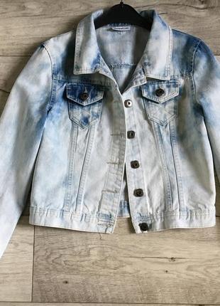 Джинсовый пиджак куртка котонка женская okay м