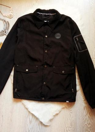 Черная мужская куртка ветровка с множеством карманов деми большой размер батал