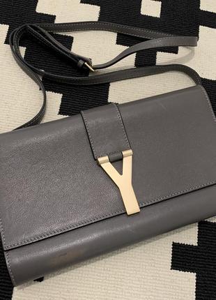 Сумка бренд, сумка оригинал, кожаный клатч, сумка кожа ysl