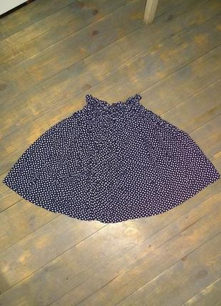Пышная юбка в трендовый горох