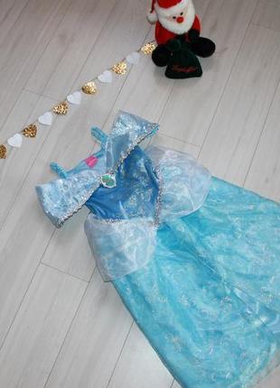 Платье карнавальное золушки на 4-5 лет disney