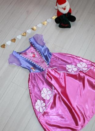 Платье карнавальное пинцессы софии на 5-6 лет