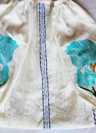 Вышиванка, блуза из льна