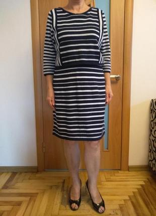 Теплое стильное платье с красивой спинкой. размер 16