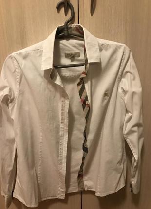Рубашка burberry brit белая