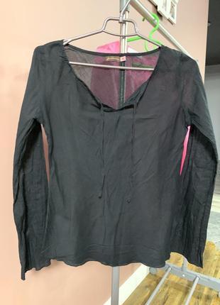 Легкая чёрная рубашка