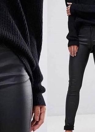 Новые кожаные лосины штаны, скини на флисе3 фото