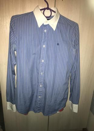 Голубая рубашка polo ralph lauren