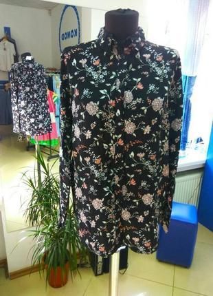 Блуза в цветочный принт н&м