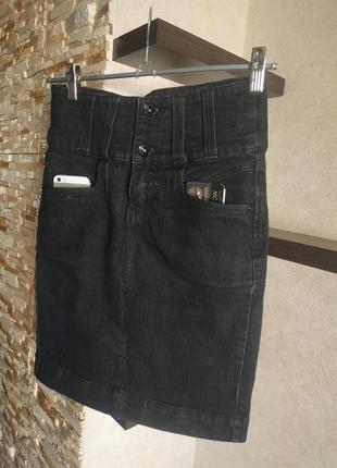 Джинсовая юбка юбочка oggi2 фото