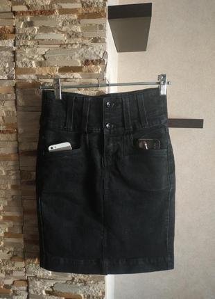 Джинсовая юбка юбочка oggi3 фото