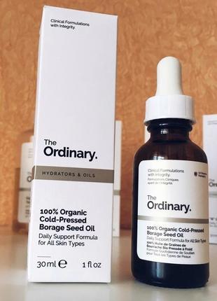 Органическое масло бораго the ordinary 100% organic cold-pressed borage seed oil