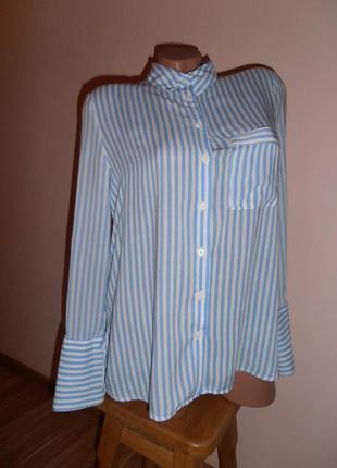 Стильна рубашка в полоску  mango