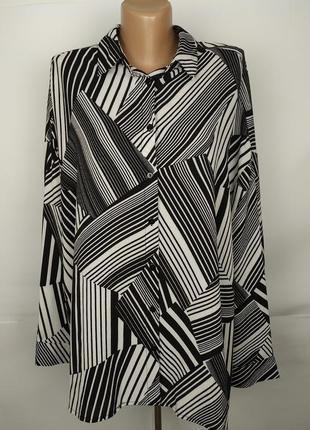 Блуза трендовая свободного кроя в геометрический принт new look uk 16/44/xl