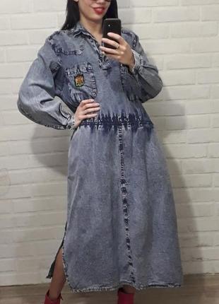 Супер трендовое джинсовое платье