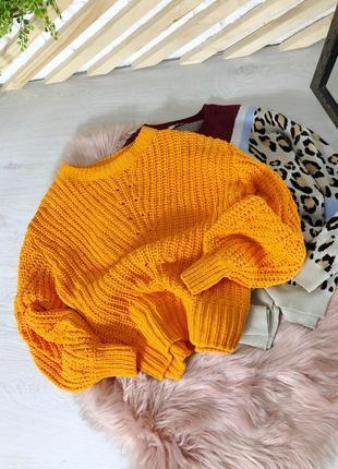 Бархатный, велюровый, объемный свитер оверсайз от h&m