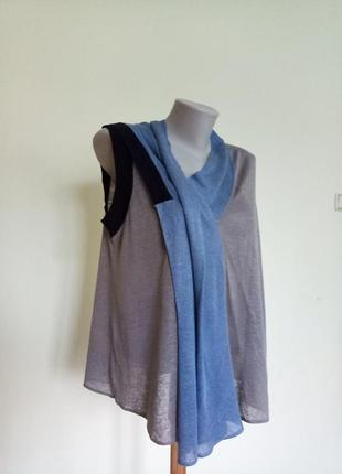 Легкая брендовая блуза лен шелк armani