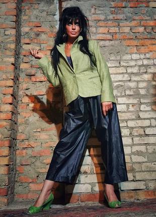 Шерстяной шёлковый пиджак жакет блейзер kaliko меланж шерсть шелк