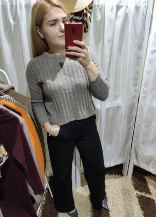 Фактурные брюки палаццо bershka