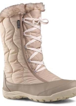Зимние ботинки термо сапоги спортивные quechua tika lady beige